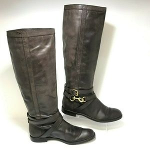 Coach Marlena Vintage Leather Tall Riding Boots
